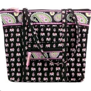Vera Bradley pink elephant tote bag